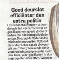Goed deurslot efficiënter dan extra politie