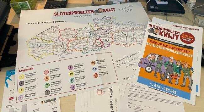Slotenprobleemkwijt benadert agressief Vlaamse slotenmakers